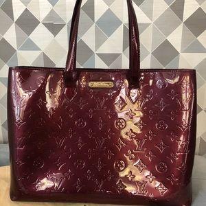 Louis Vuitton Wilshire MM Tote bag. Rouge fauviste